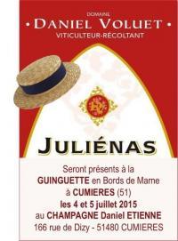 Nos Vins de Juliénas présentés en Champagne à l'occasion de la